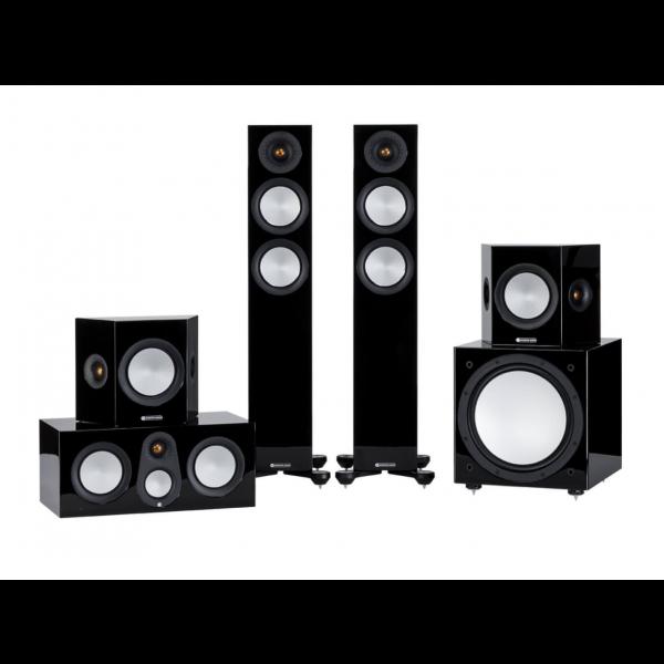 Monitor Audio Silver 200 7G Cinema 5.1 Speaker Package Gloss Black