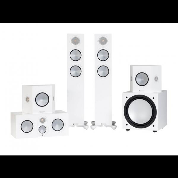 Monitor Audio Silver 200 7G Cinema 5.1 Speaker Package Satin White