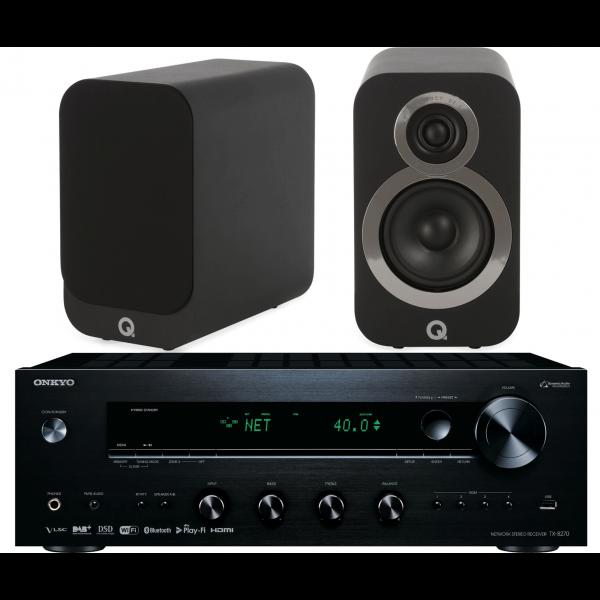 Onkyo TX-8270 Network Stereo Receiver w/ Q Acoustics 3020i Speakers