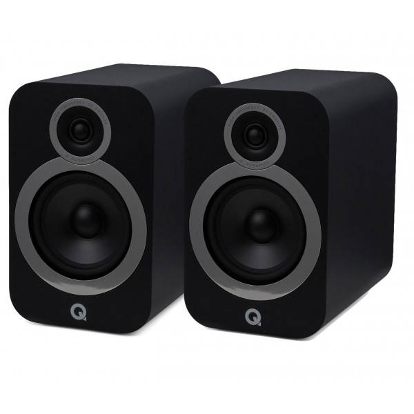 Q Acoustics 3030i Bookshelf Stereo Speakers Carbon Black