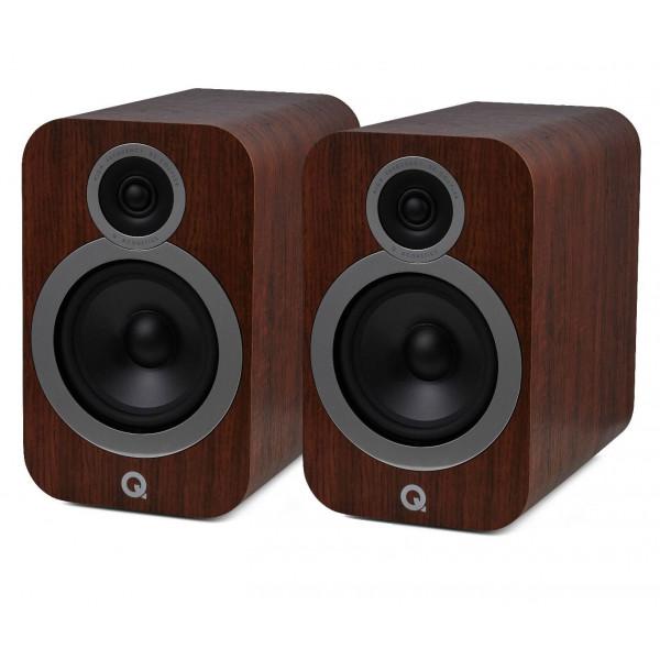 Q Acoustics 3030i Bookshelf Stereo Speakers English Walnut