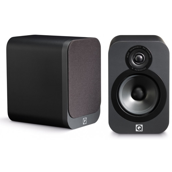 Q Acoustics 3010 Bookshelf Speakers Pair - Matt Graphite
