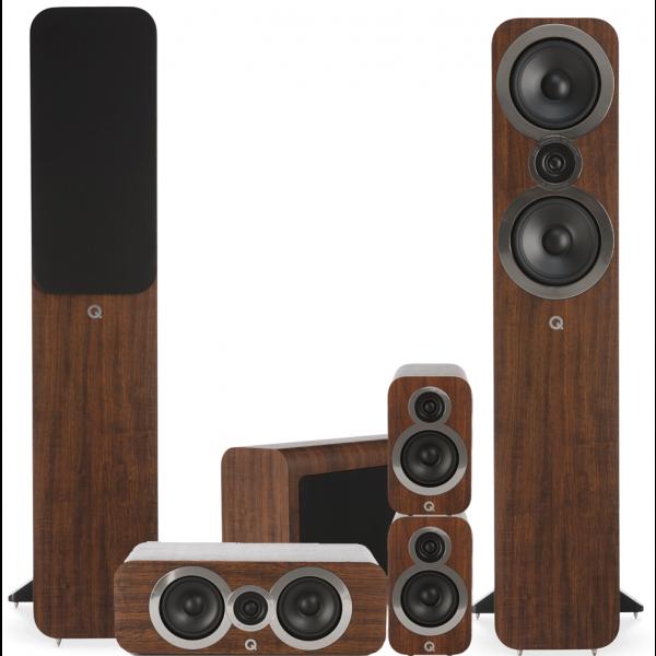 Q Acoustics 3050i 5.1 Cinema Pack English Walnut