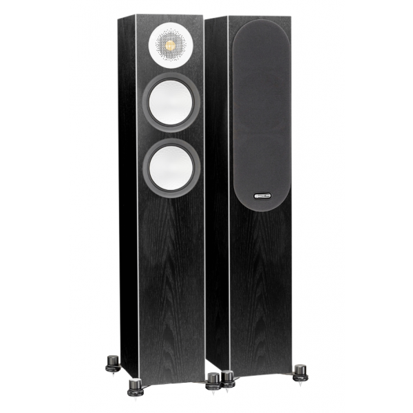Monitor Audio Silver 200 Speakers (Open Box, Black Oak)
