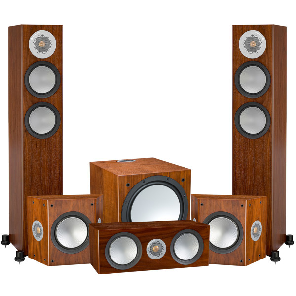 Monitor Audio Silver 200 AV12 5.1 Speaker Package Walnut