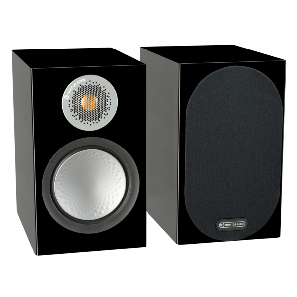Monitor Audio Silver 100 Bookshelf Speakers Black Gloss