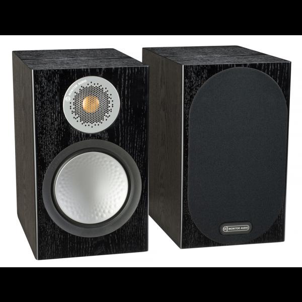 Monitor Audio Silver 100 Bookshelf Speakers Black Oak