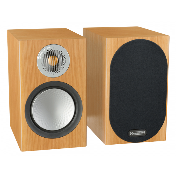 Monitor Audio Silver 100 Bookshelf Speakers Natural Oak