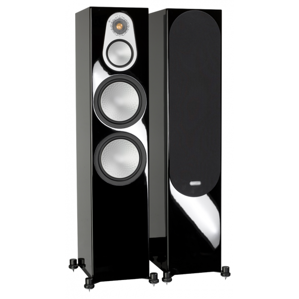 Monitor Audio Silver 500 Floorstanding Speakers High Gloss Black