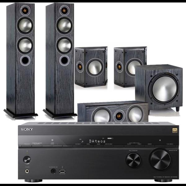 Sony STR-DN1080 AV Receiver w/ Monitor Audio Bronze B5 AV Speaker Package 5.1