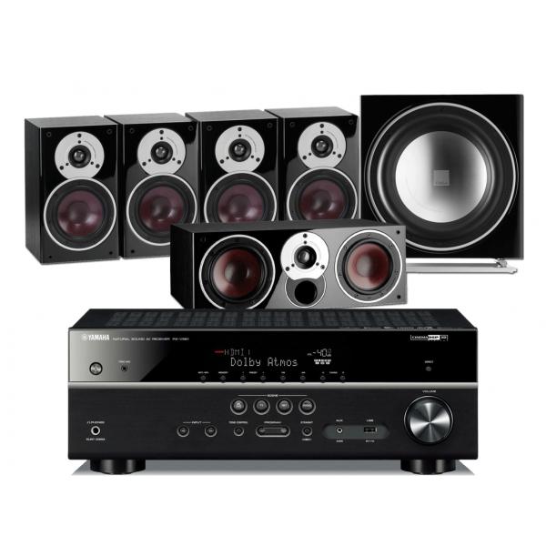 Yamaha RX-V585 AV Receiver w/ Dali Zensor 1 Speaker Package 5.1