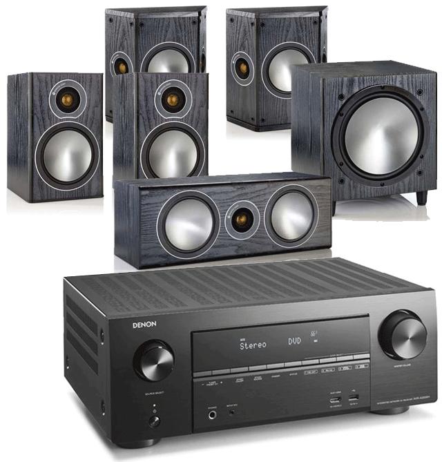 Denon AVR-X2600H AV Receiver w/ Monitor Audio Bronze 2 AV Speaker Package