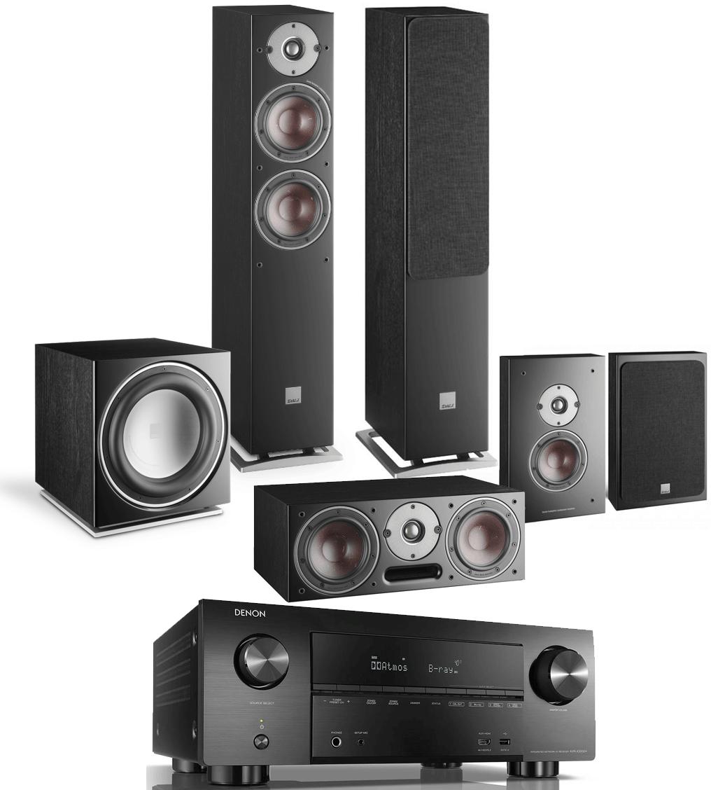 Denon AVR-X3500H AV Receiver w/ Dali Oberon 5 5 1 Speaker Package