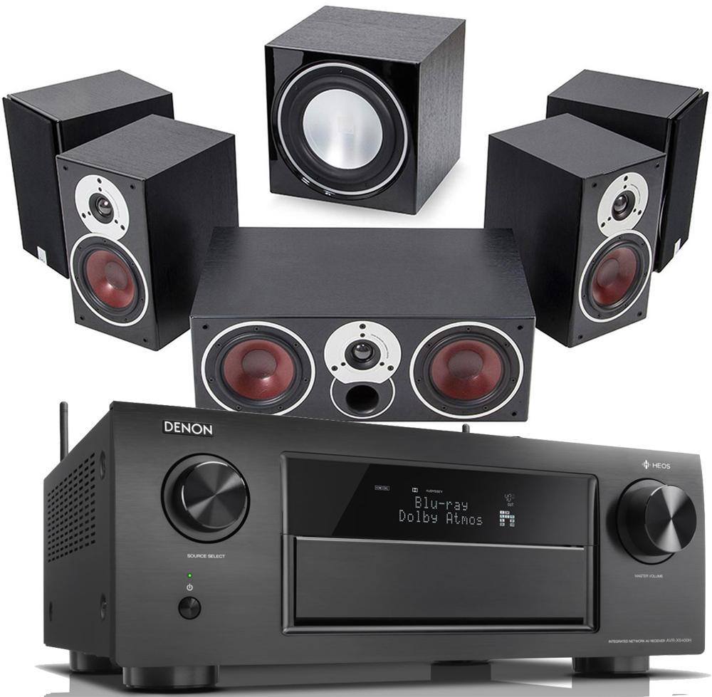 Denon AVR X6400H AV Receiver W Dali Zensor 1 Bookshelf Speaker Package