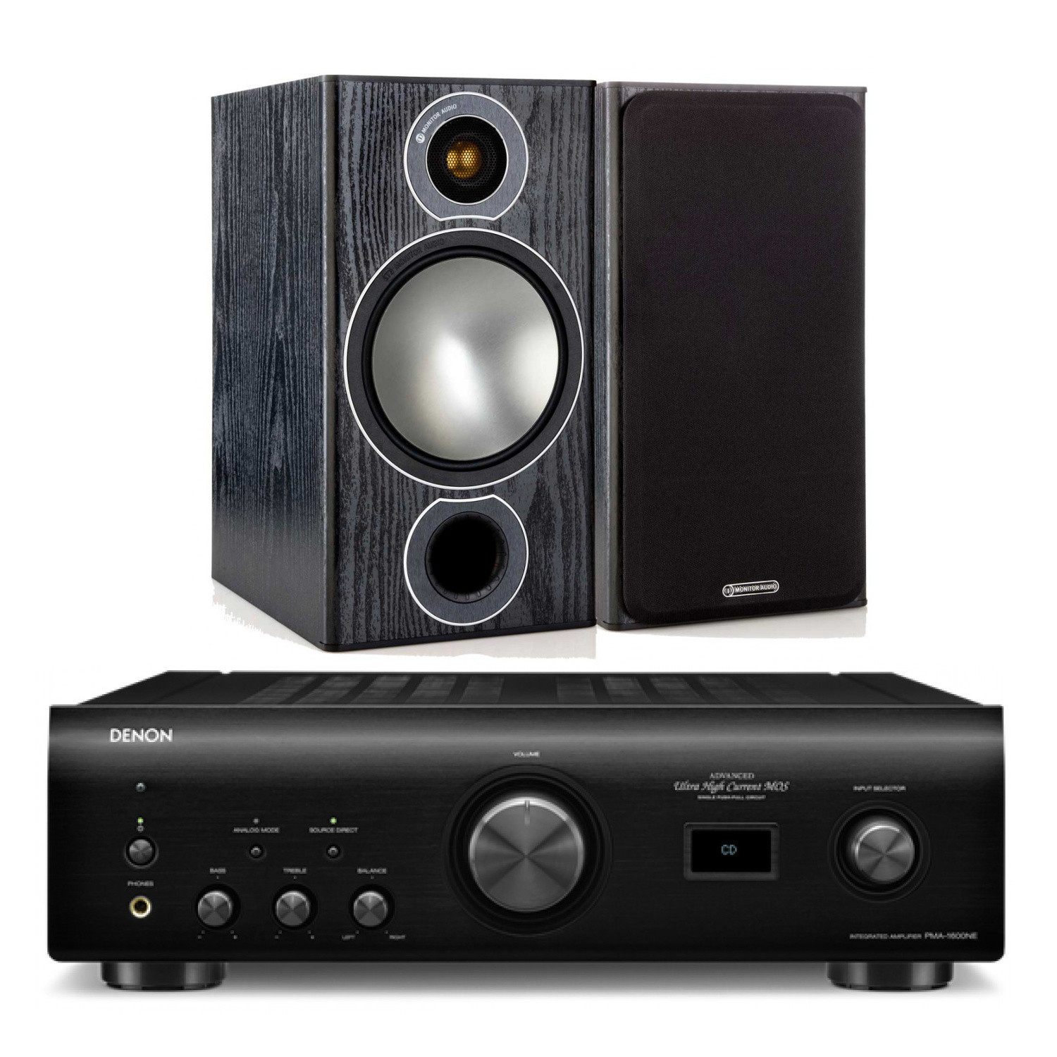 Denon PMA 1600NE W Monitor Audio Bronze 2 Bookshelf Speakers