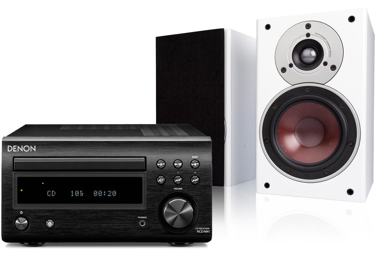 Denon RCD-M41DAB w/ Dali Zensor 1 Speakers (DM41)