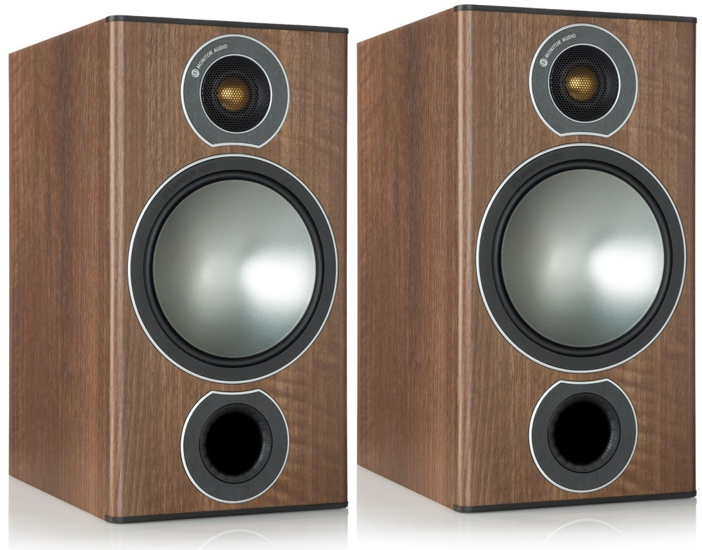 Monitor Audio Bronze 2 Bookshelf Speakers Walnut