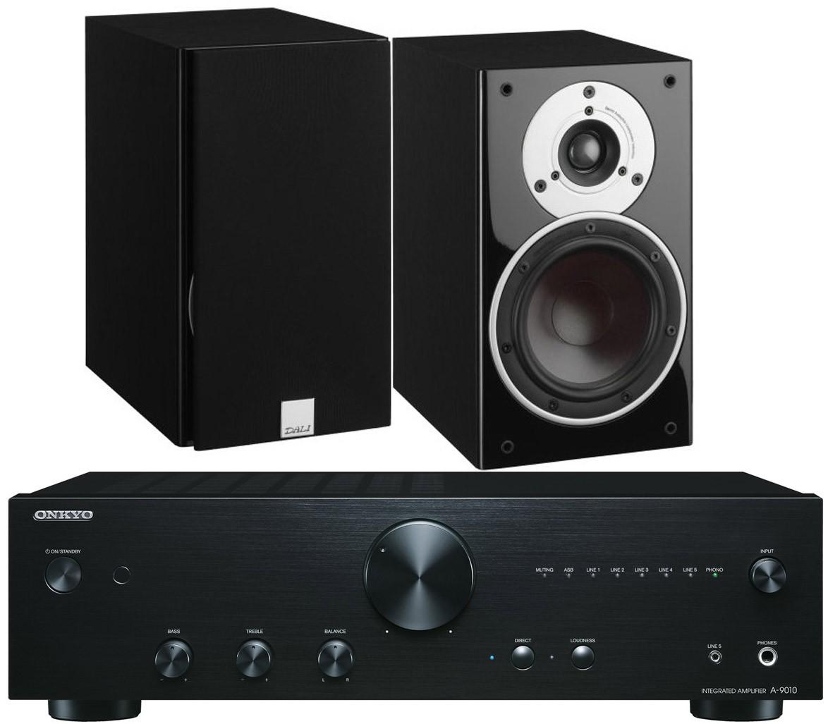 Onkyo A 9010 Amplifier W Dali Zensor 3 Speakers Audio System