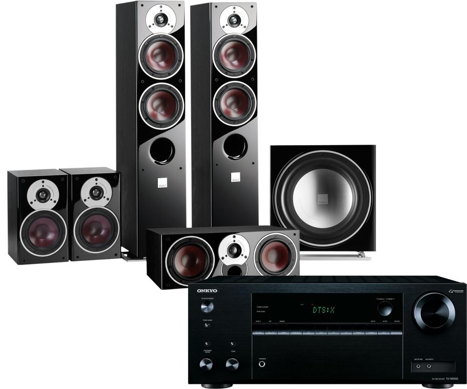 Onkyo TX-NR555 AV Receiver w/ Dali Zensor 5 Speaker Package 5.1
