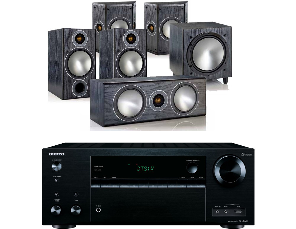onkyo tx nr656. onkyo tx-nr676e av receiver w/ monitor audio bronze b2 speaker package 5.1 tx nr656 o