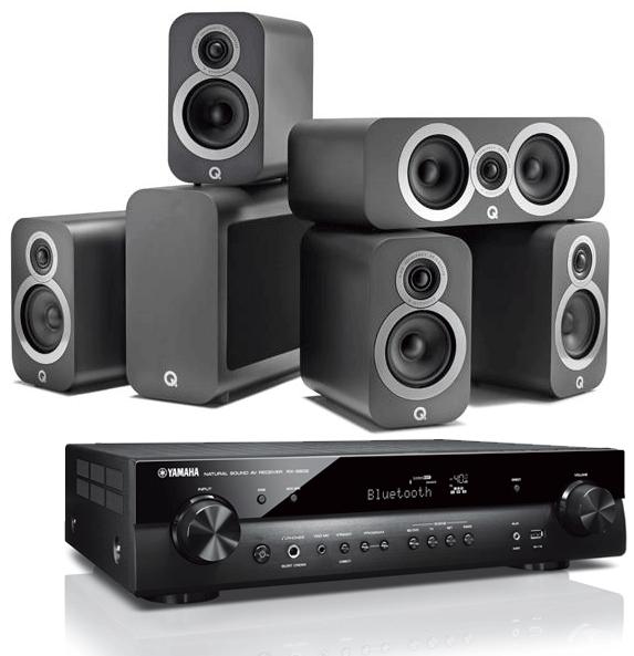 Yamaha RX-S602 AV Receiver w/ Q Acoustics 3010i Cinema Pack 5 1