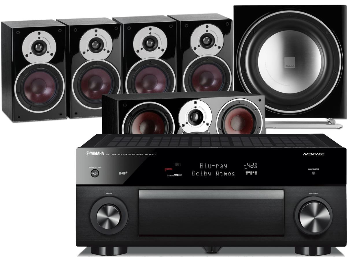 Yamaha RX A1070 AV Receiver W Dali Zensor 1 Bookshelf Speaker Package 51