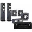 Denon AVR-X2300W AV Receiver w/ Monitor Audio Bronze 5 Speaker Package 5.1