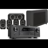 Denon AVR-X2400H AV Receiver w/ Q Acoustics 3010i Speaker Package 5.1
