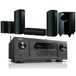 Denon AVR-X2400H AV Receiver w/ Onkyo SKS-HT588 Speaker Package 5.1.2