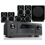 Denon AVR-X2400H AV Receiver w/ Wharfedale Diamond DX-2 Speaker Package