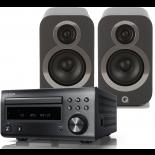 Denon RCD-M41DAB w/ Q Acoustics 3010i Speakers (DM41)