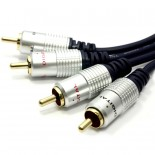 EXA Stereo Audio Twin Phono RCA Cable