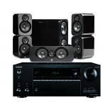 Onkyo TX-NR676E AV Receiver w/ Q Acoustics 3000 Speaker Package 5.1