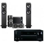 Onkyo TX-NR676E AV Receiver w/ Q Acoustics 3050 Speaker Package 5.1