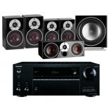 Onkyo TX-NR676E AV Receiver w/ Dali Zensor 3 Speaker Package 5.1