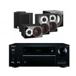 Onkyo TX-NR676E AV Receiver w/ Dali Zensor Pico Speaker Package 5.1