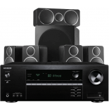Onkyo TX-SR393 AV Receiver w/ Wharfedale DX-2 Speaker Package (5.1)