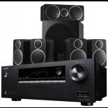 Onkyo TX-SR373 AV Receiver w/ Wharfedale DX-2 Speaker Package (5.1)