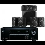 Onkyo TX-NR474 AV Receiver w/ Wharfedale DX-2 Speaker Package 5.1