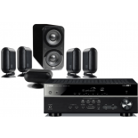 Yamaha RX-V583 AV Receiver w/ Q Acoustics 7000i PLUS Speaker Package 5.1