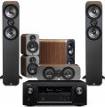 Denon AVR-X3400H AV Receiver w/ Q Acoustics 3050 Floorstanding Speakers (5.1)