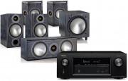Denon AVR-X2500H AV Receiver w/ Monitor Audio Bronze B2 AV Speaker Package