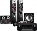 Denon AVR-X3400H AV Receiver w/ Dali Zensor 5 Floorstanding Speaker Package 5.1