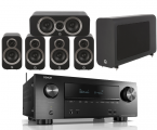 Denon AVR-X2500H AV Receiver w/ Q Acoustics 3010i Speaker Package 5.1