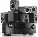 Denon AVR-X2500H AV Receiver w/ Q Acoustics 3010i Cinema Pack 5.1