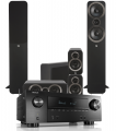 Denon AVR-X2500H AV Receiver w/ Q Acoustics 3050i Floorstanding Speaker Package 5.1