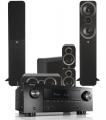 Denon AVR-X2500H AV Receiver w/ Q Acoustics 3050i Floorstanding Cinema Pack 5.1