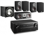 Denon AVR-X2500H AV Receiver w/ Dali Oberon 1 5.1 Speaker Package