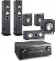 Denon AVR-X2600H AV Receiver w/ Monitor Audio Bronze B5 AV Speaker Package