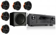 Denon AVR-X2600H AV Receiver w/ Monitor Audio C180 Speaker Package 5.1